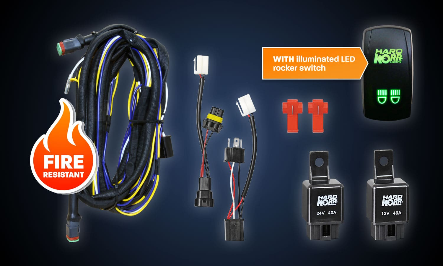 Terrific Wiring Harness Kit With Illuminated Rocker Switch Hard Korr Uk Wiring 101 Mentrastrewellnesstrialsorg