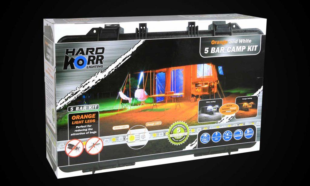 LED Camp Lighting Kit 5 Bar Orange White