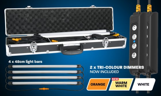 Hardkorr 4 Bar Orange and White LED Camp Light Kit