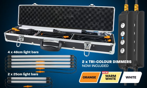 Hardkorr 6 Bar Orange and White LED Camp Light Kit