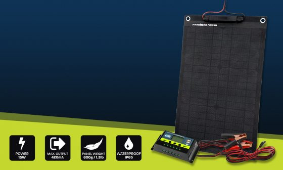 15w solar panel trickle charger