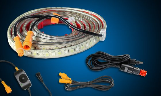 Hardkorr 2m orange white flexible tape light
