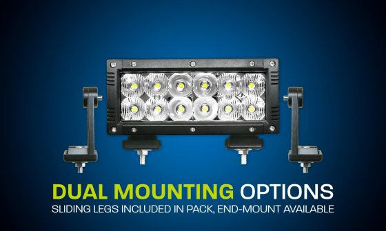 LED light bar dual row 6 inch flood