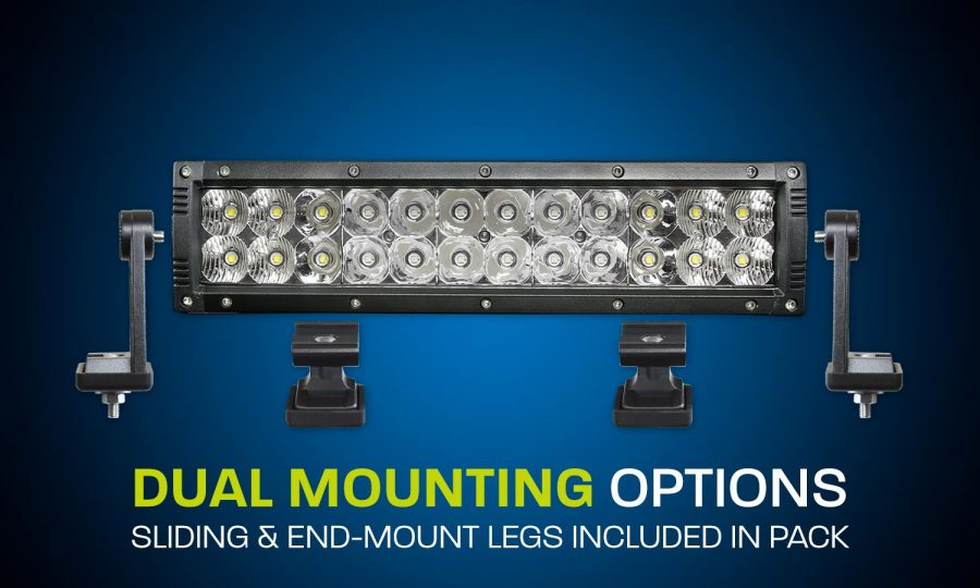 Dual row LED light bar 12 inches combo beam