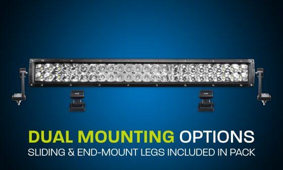 LED light bar dual row 22 inch combo beam