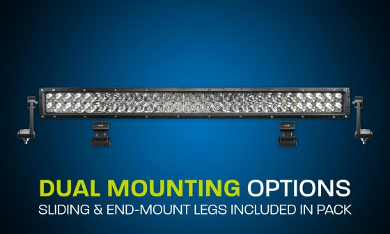 LED light bar dual row 27 inches combo beam