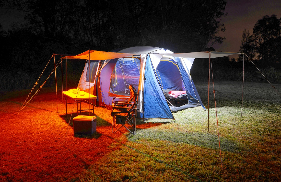 All New 2 Bar Orange White Led Camping Light Kit With