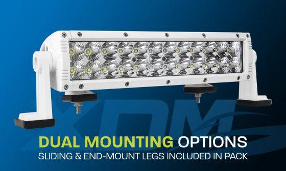 "12"" dual row marine LED light bar XDM400-G3"