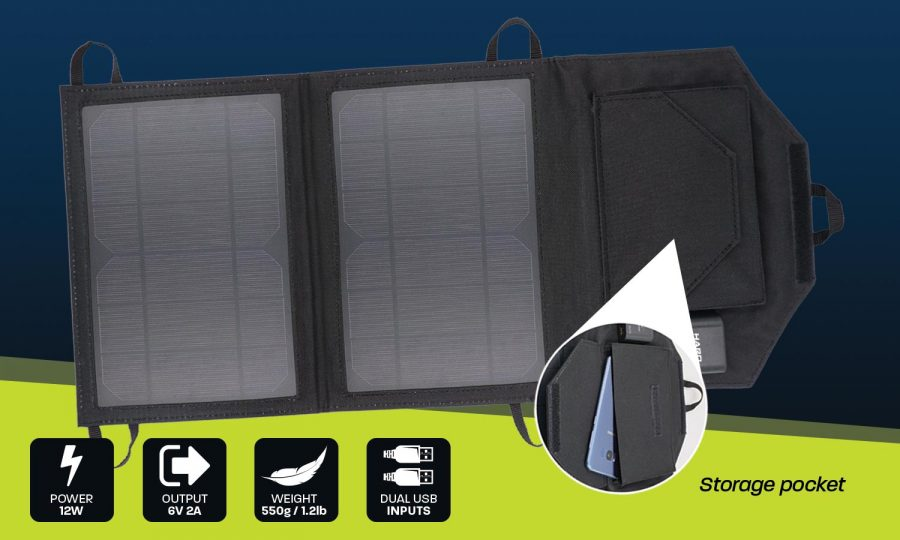 12W USB personal solar charger