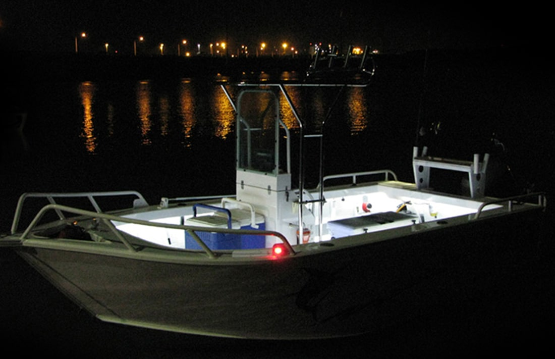 Led Boat Light Kit Blue White Hard Korr Usa