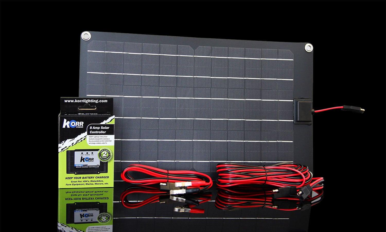 15w 12v Or 24v Trickle Charge Solar Panel Hard Korr Usa