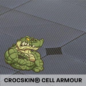 Hard Korr solar mats include exclusive Crocskin cell armouring