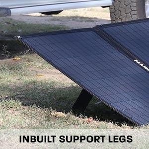 Hard Korr solar mats have inbuilt legs