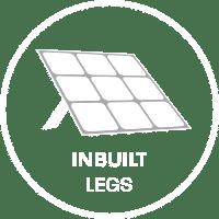 This folding solar mat has inbuilt legs