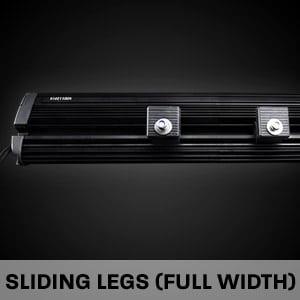 Hard Korr LED driving light bars come with full-width sliding legs